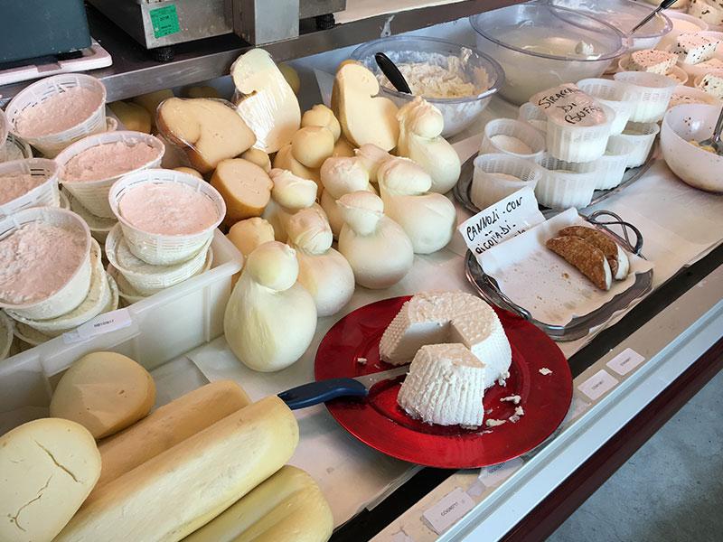 banco formaggi, ricotta, formaggio pasta filata, caciotte